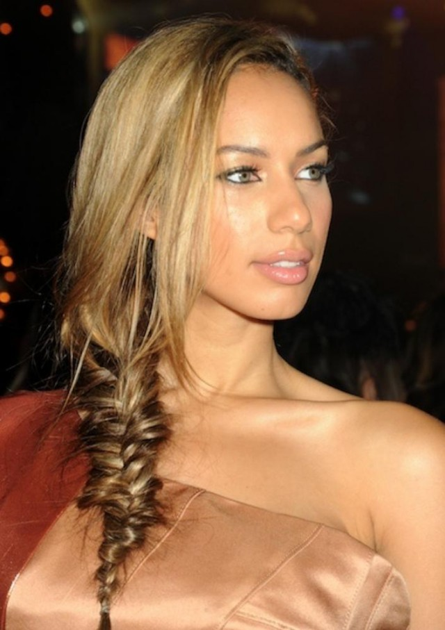 Fishtail Braid with Side Part