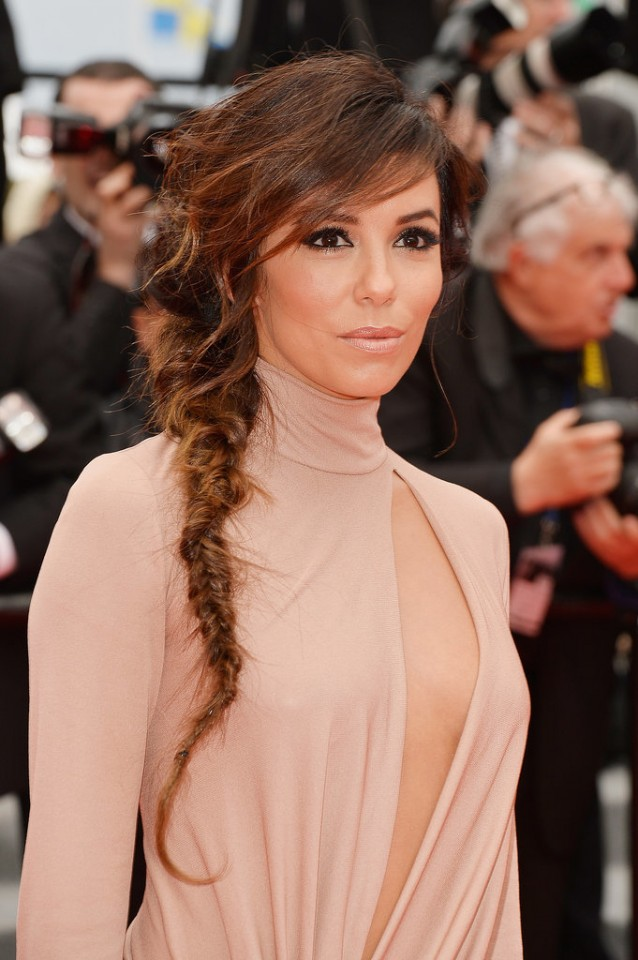 Fishtail Braid with Swept-side Bangs