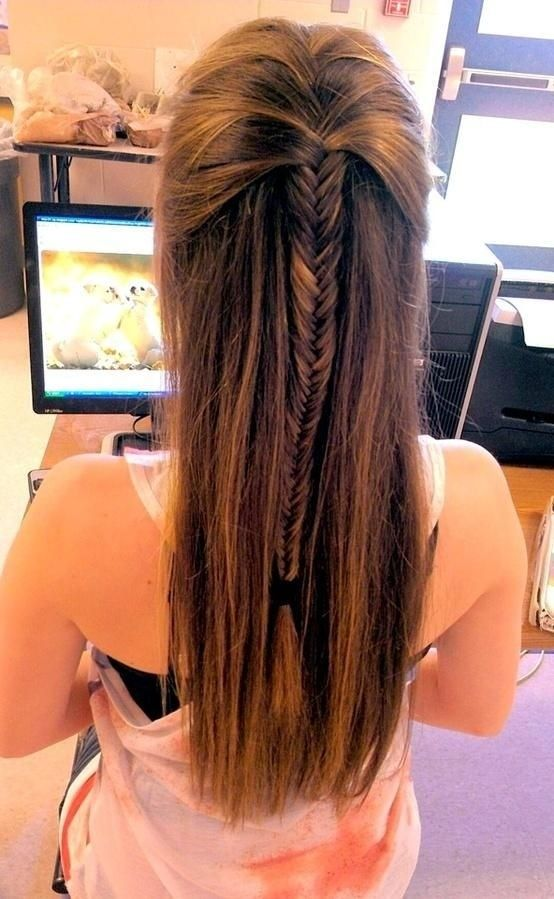 12 stunning fishtail braid hairstyles pretty designs for Fish tail hair