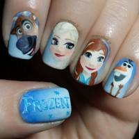 Frozen Nail Art