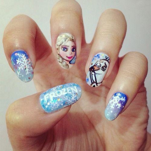Frozen-inspired Nail Art