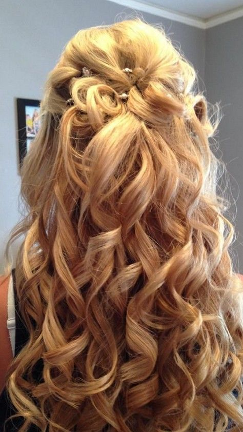 Glamorous Prom Hairstyle For Curly Hair