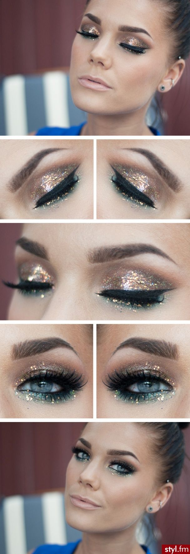 Glitter Eye Makeup for Fall 2014