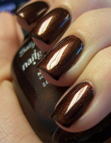 19 Delicious Chocolate Nail Designs Pretty Designs