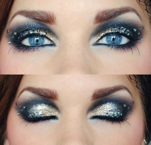 Glittery Eyes for Party Eye Makeup