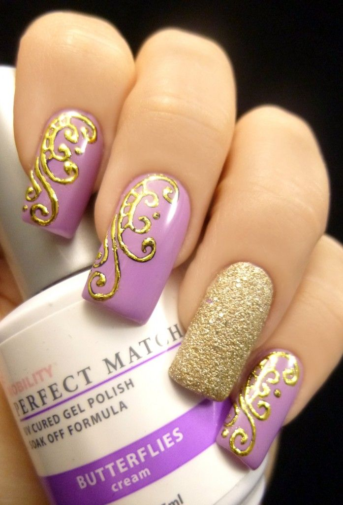Purple and gold nail designs nails gallery purple and gold nail designs image prinsesfo Choice Image