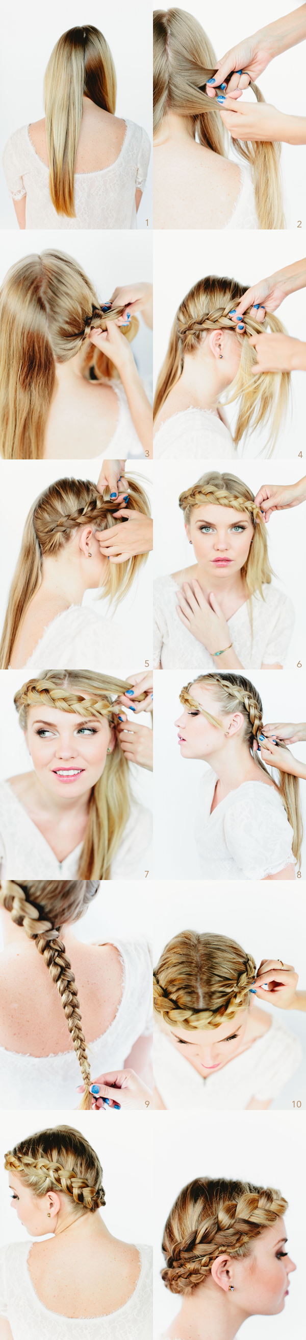 Gorgeous Braided Crown Hairstyle Tutorial