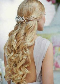 Gorgeous Prom Hairstyle for Long Blond Hair