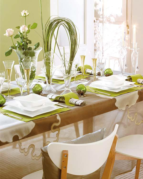 Green Decoration for Table