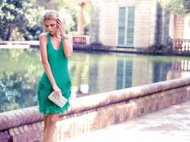 Green Midi Skirt for Women