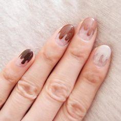 Juicy Chocolate Nail Design