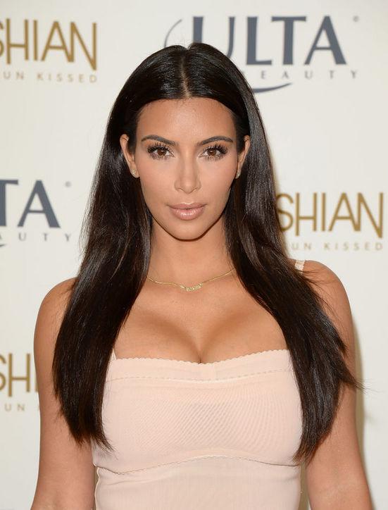 Kim Kardashian's Straight Haircut with Layers