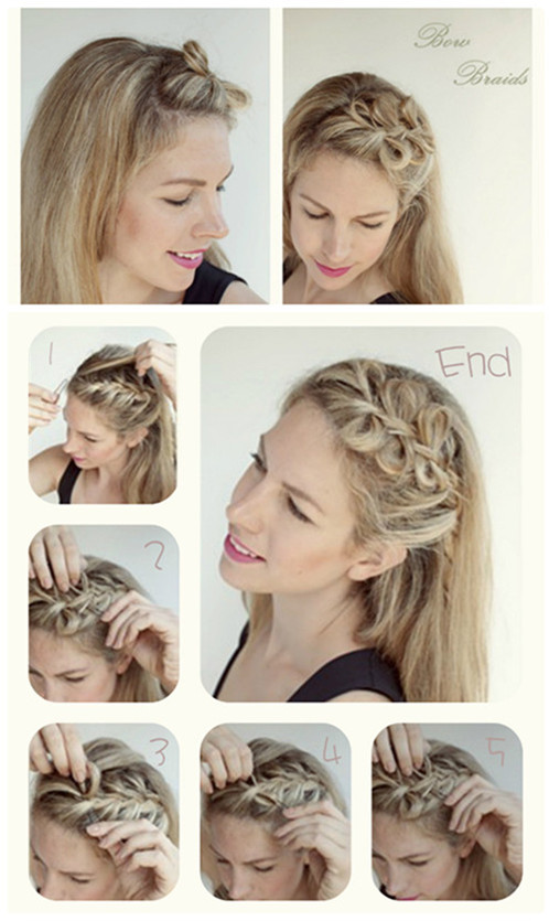 Knotted Braided Hairstyle Tutorial