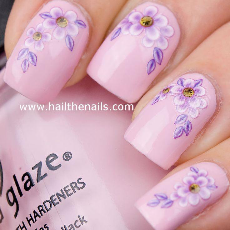 Light Pink Daisy Nail Design PinterestLight Pink Nail Designs Pinterest