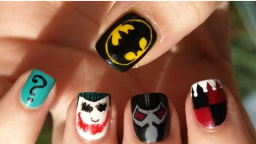Lovely Batman Nail Art Design