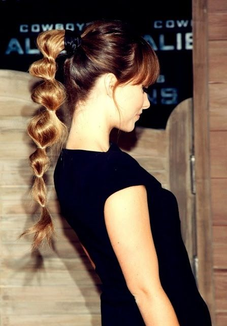Lovely Bubble Ponytail Hairstyle