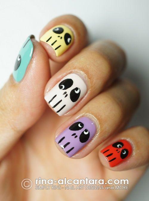13 Super Cute Happy Face Nail Designs Pretty Designs