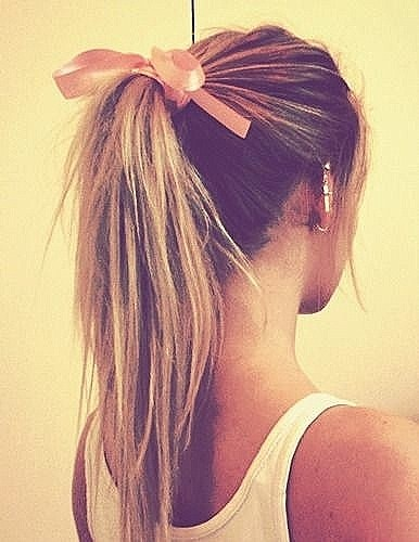 Lovely High Ponytail Hairstyle