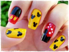 Lovely Mickey Mouse Nail Art Design