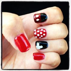 Lovely Mickey Mouse Nails