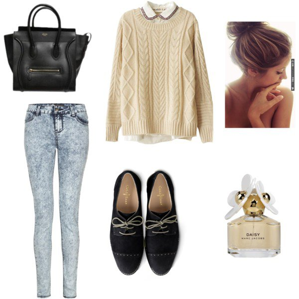 Lovely Outfit Idea for Fall with Jeans