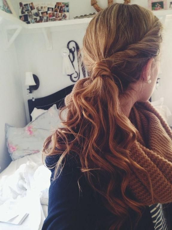 Lovely Twisted Ponytail