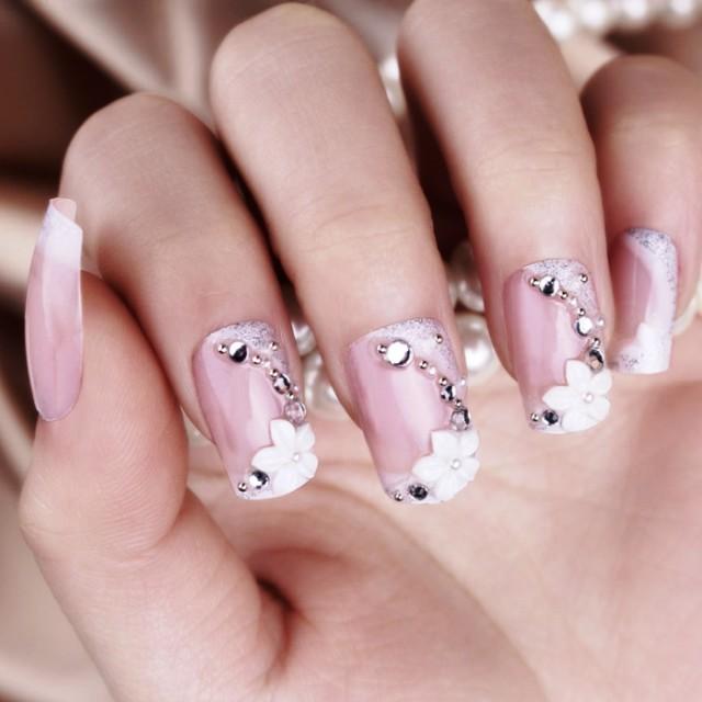 Lovely Wedding Nail Design