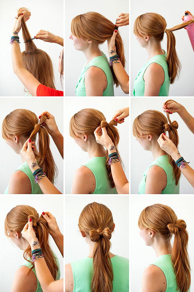 Lovely Hair Bow Ponytail Tutorial