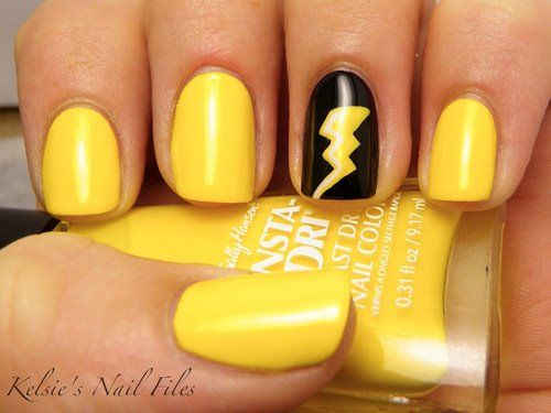 Matte Yellow Nail Design