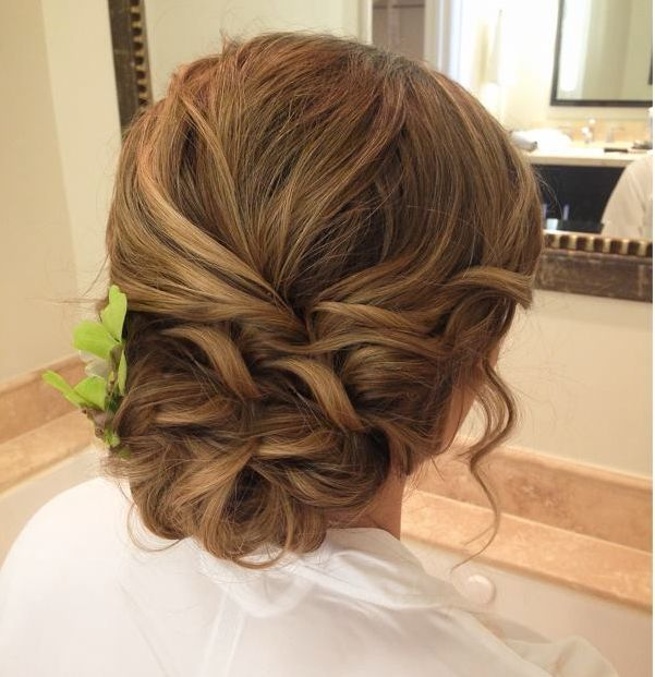 braided hairstyles for prom : Prom Hairstyles Bun Braid Messy Braid Bun For Prom