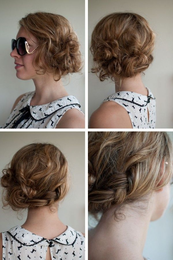 Hair Tutorials To Try Braided Messy Updo Pretty Designs