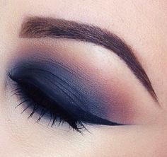 Navy Blue and Purple Winged Smokey Eyes
