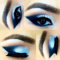 Neon Colored Winged Smokey Eye