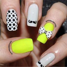 Neon Yellow Nail Design