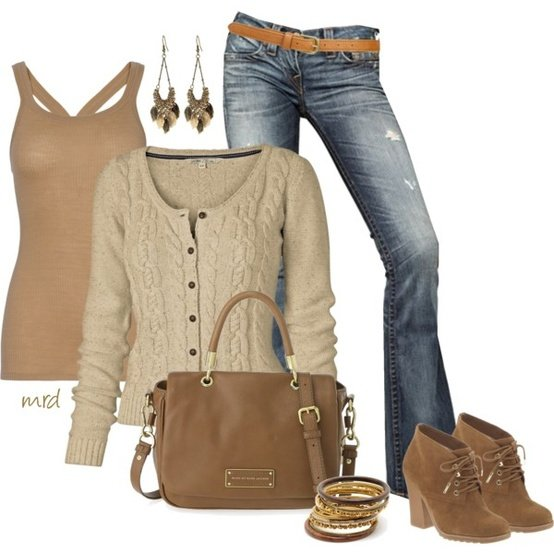 Neutral Outfit Idea for Fall 2014