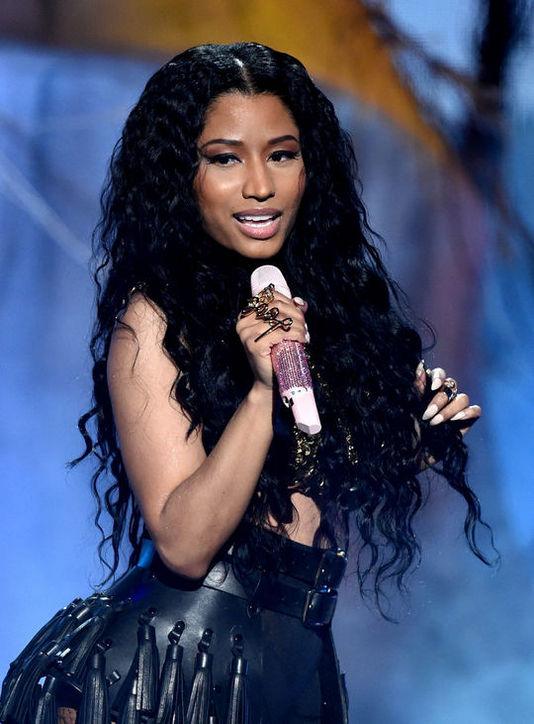 Nicki Minaj's Long Mermaid Curls