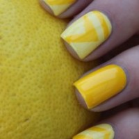 Orange and Yellow Nail Design