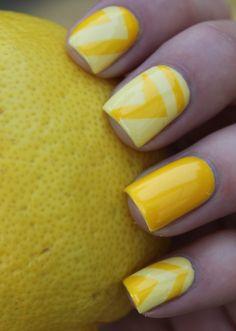 Orange and Yellow Nail Design