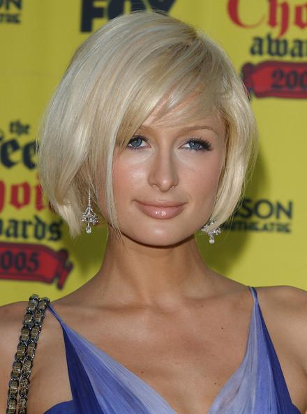 Paris Hilton Short Side Part