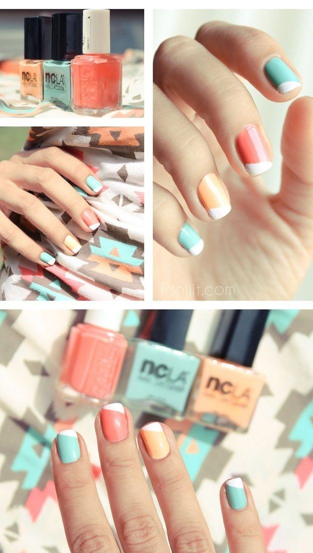 Pastel Colored Nails