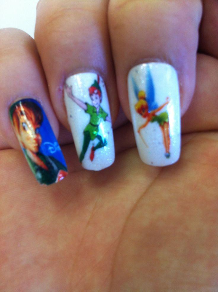 Peter Pan Themed Nails