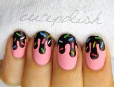 Pink Chocolate Nail Design
