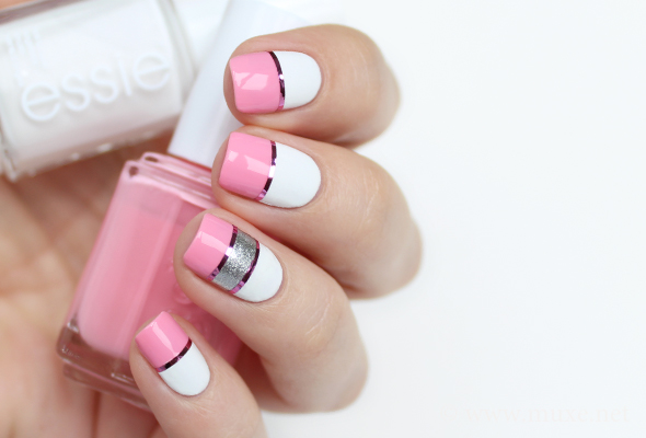Nail paint designs pink and white pink nail art designs acrylic pink white sparkle nail art bianca friedrich find more women fashion ideas on misspool view images prinsesfo Image collections