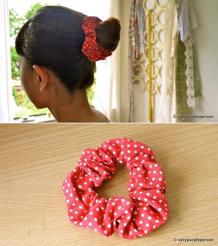 Polka Dot Hair Scrunchie