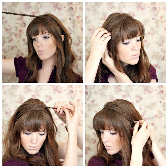 Pretty Braided Headband Hairstyle Tutorial