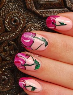 Pretty Cherry Nail Design