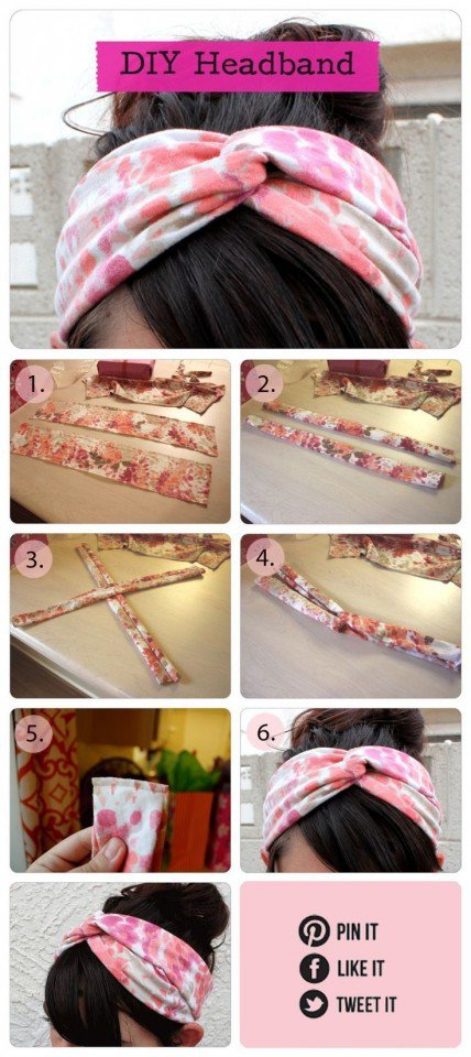 Pretty DIY Fabric Headband