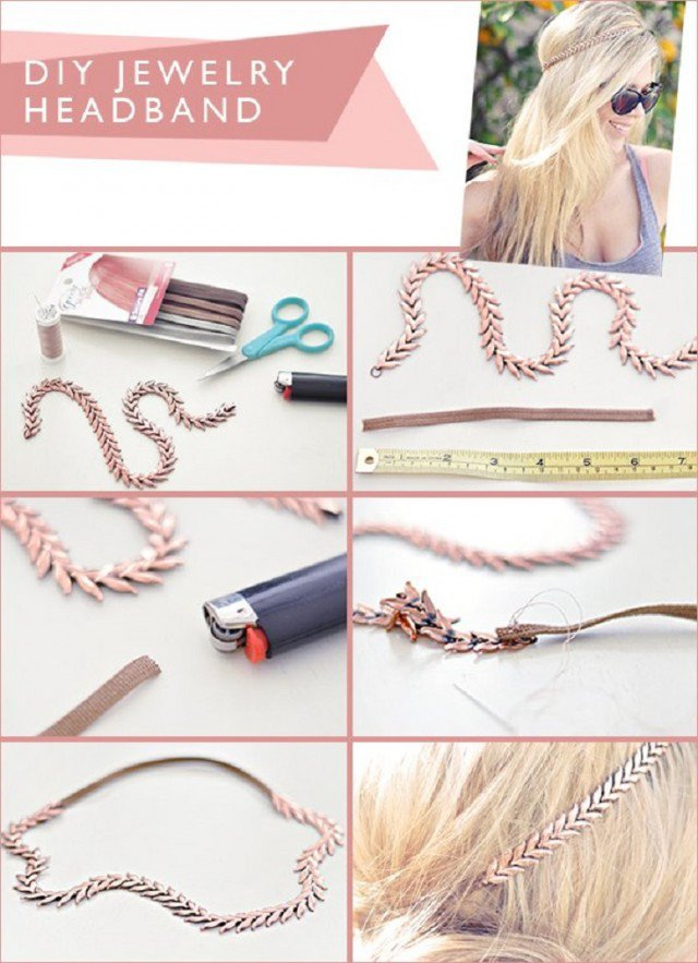 Pretty DIY Jewelry Headband