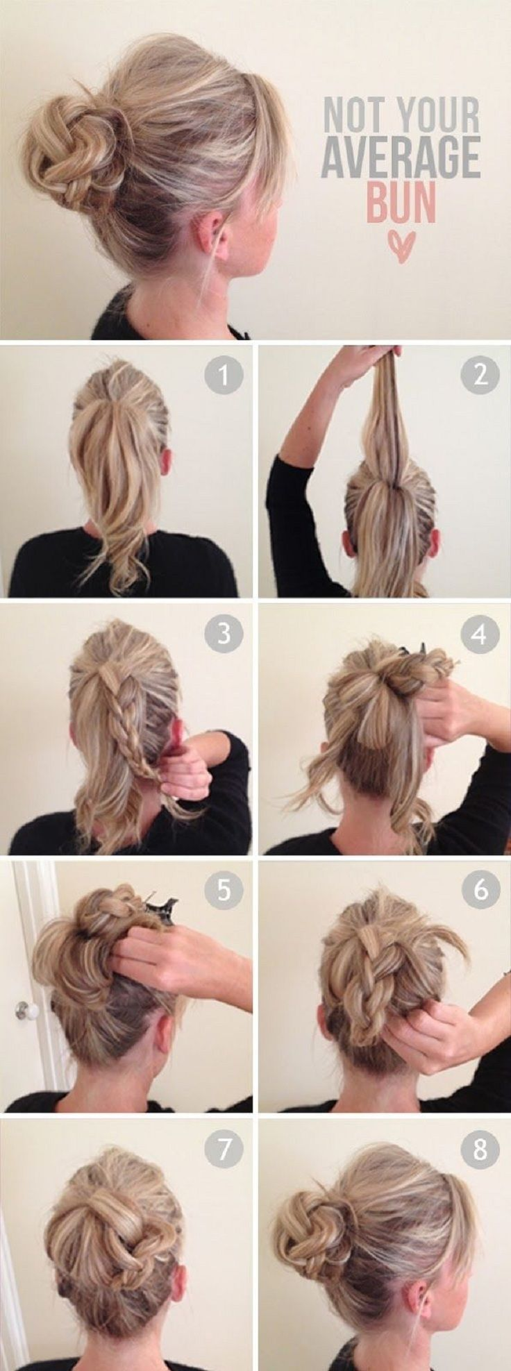 14 Amazing Double Braid Bun Hairstyles