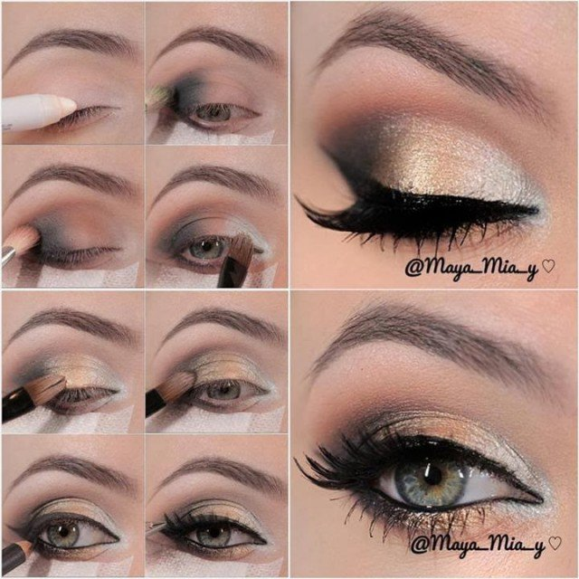 Pretty Rainbow Eye Makeup Tutorial
